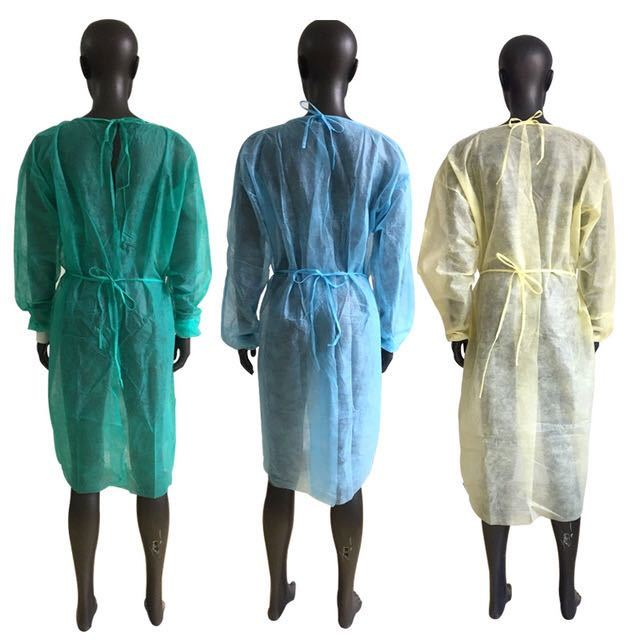 PP,PP+PE,SMS disposable isolation gown