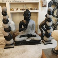 Black Marble Garden Sculpture