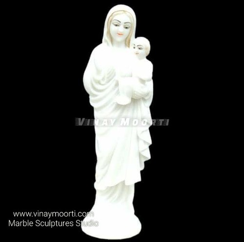 White Marble Garden Lady Statue