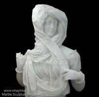 White Realistic Marble Garden Statue