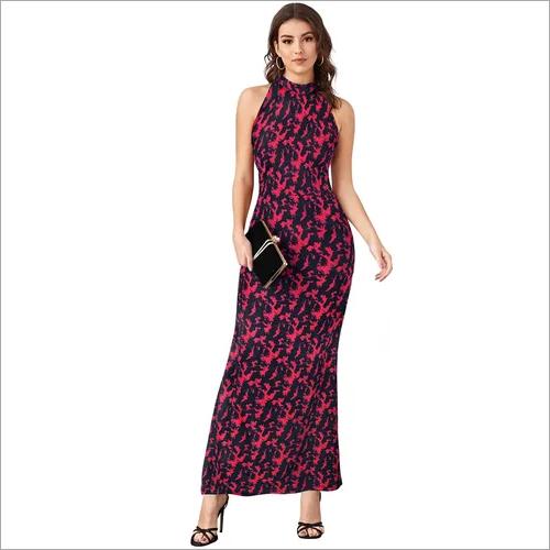 Ladies Printed Western Long Dress