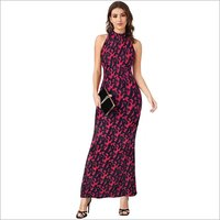 Ladies Printed Western Long Dress