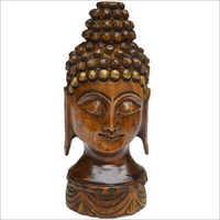Wooden Lord Buddha Head