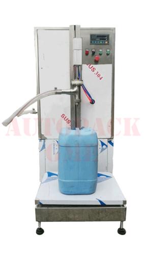 Semi Automatic Weighing Liquid Filler / Semi Automatic Weight Metric Oil, Ghee, Filling Machine