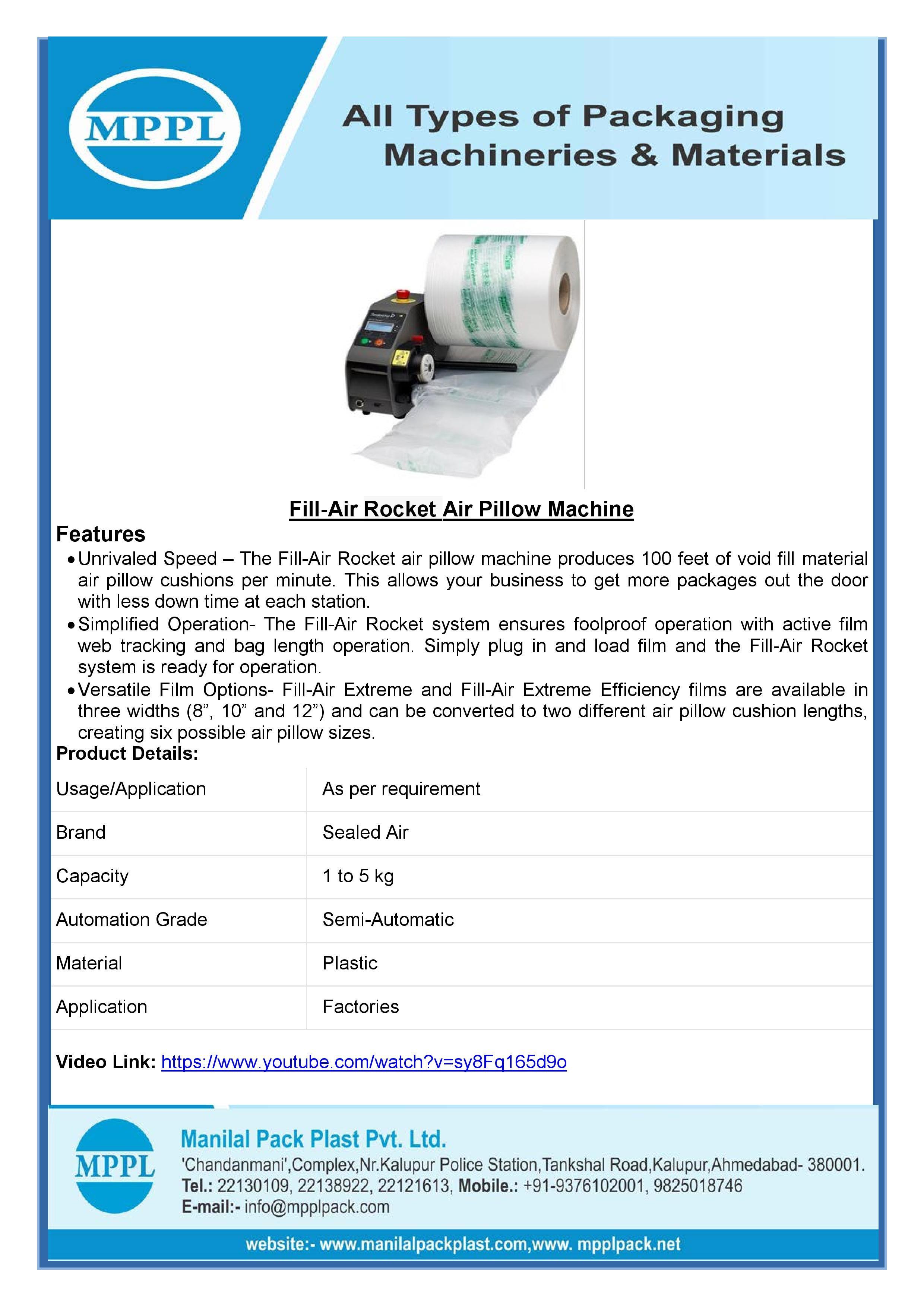 Fill-Air RF Air Pillow Machine