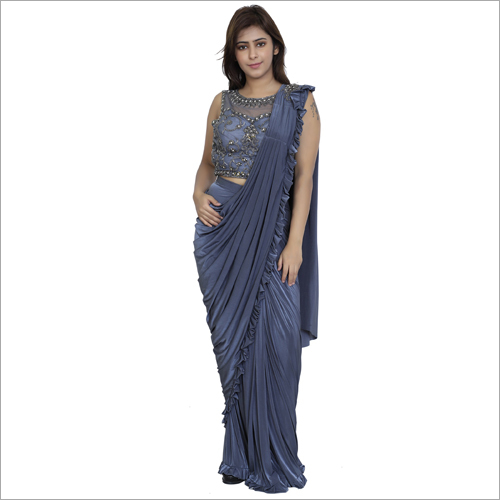 Designer Embroidery Drape Saree