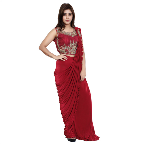 Fine Embroiderey Drape Saree