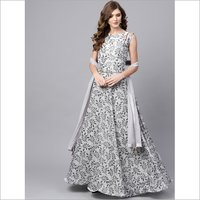 Ladies Leaf Printed Gown