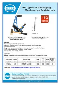 Flooring Nailer PT Manual XPRO-FN1650 H330