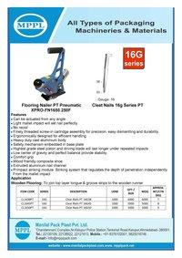 Flooring Nailer PT Pneumatic XPRO-FN1650 250F