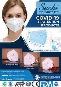 N-95 Mask with Ultrasonic Ear loop and with Respirator
