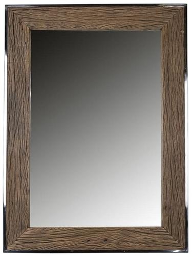 Sleeper Wood And Silver Rectangular Mirror