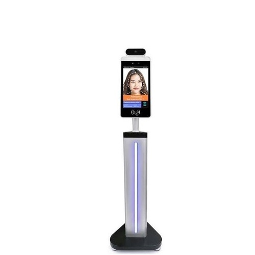 Facial Detection With Bar Code Id Card Reader Thermal Scanner