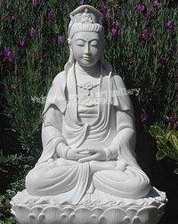 Marble Kuan Yin Statue