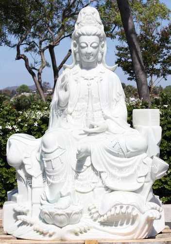 Stone Kuan Yin Statue