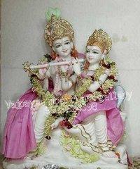 Beautiful Handmade Marble Radha Krishna Statue