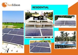 SunEdison Residential Hybrid 2-10 Kw POLY 330 Wp Rooftop Solar Panel System with 4 to 6 hours Battery Backup