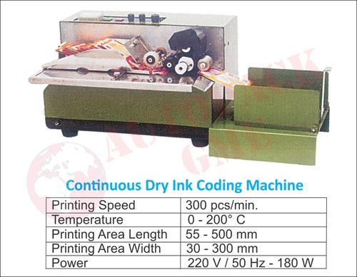 Dry Ink Coding Machine