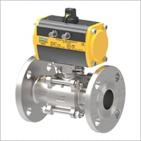 3 Piece Flange End Pneumatic Operated Ball Valve