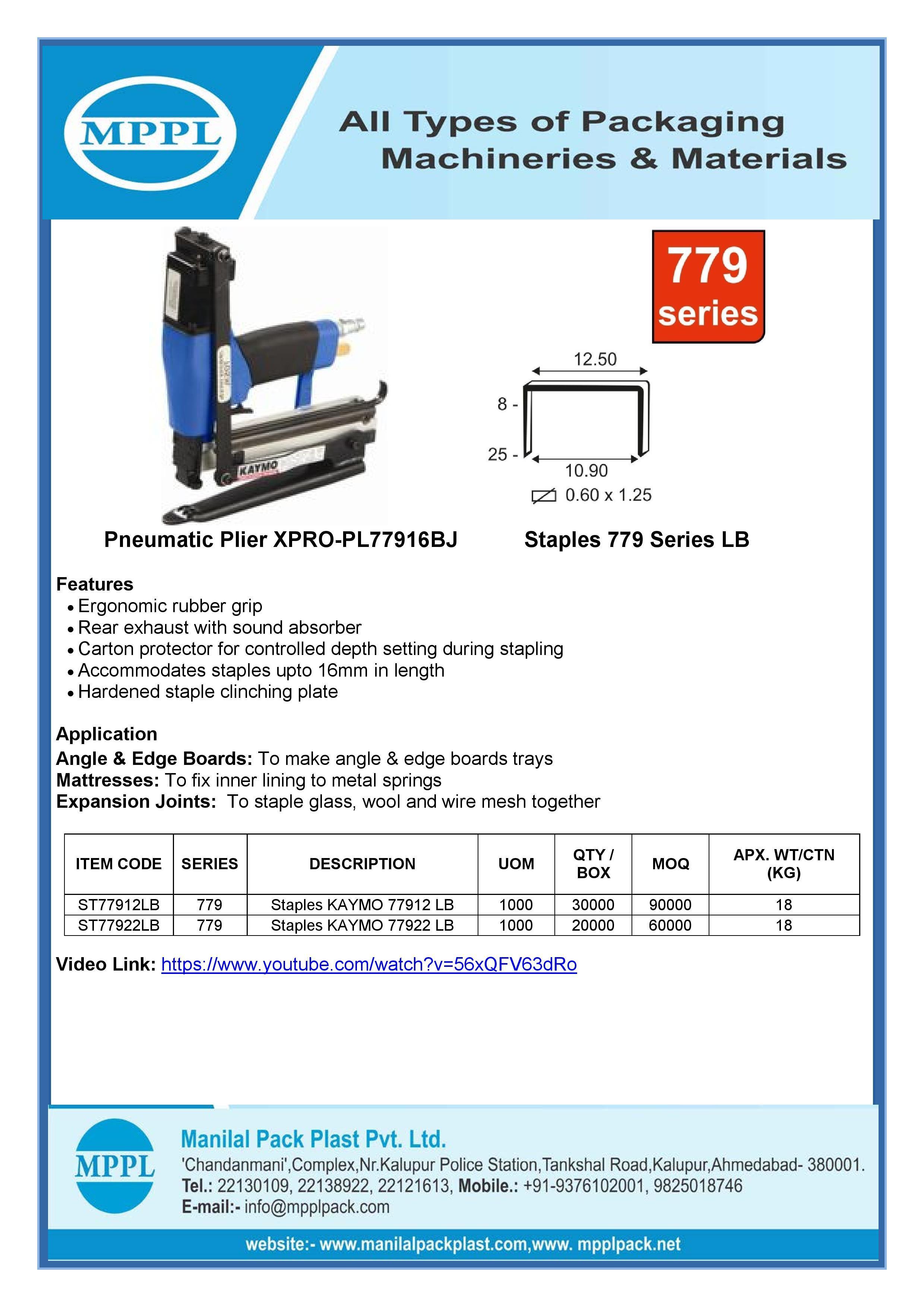 Pneumatic Plier XPRO-PL77916BJ