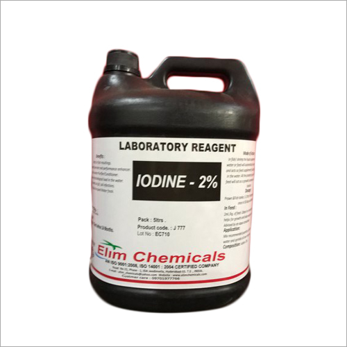 Iodine 2 Percent Elim Chem Brand