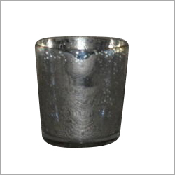 Glass Silver Candle Holder