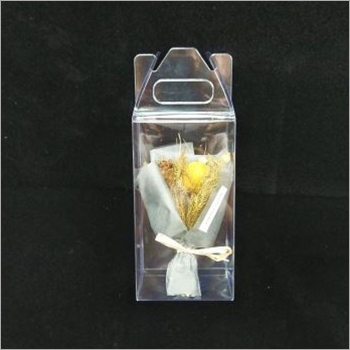 6.5x6.5x12 CM PVC Transparent Gift Box With Handle