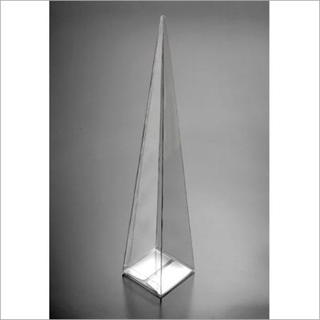 Transparent PVC Triangle Shape Bouquet Box