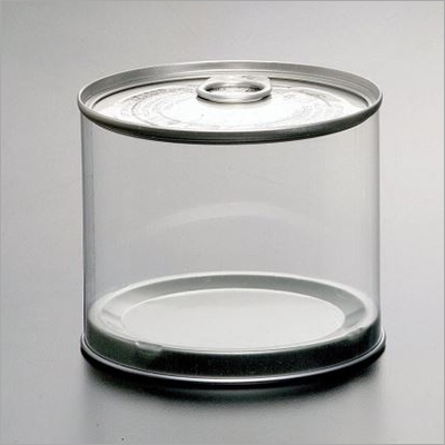 Round Cylinder Plastic Packaging Box With Tin Lid