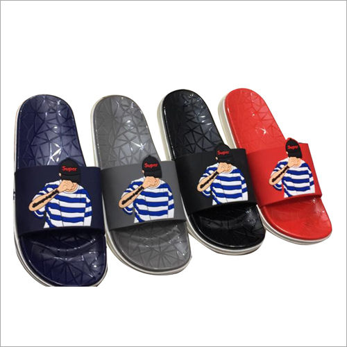 Mens PU Slides Slippers