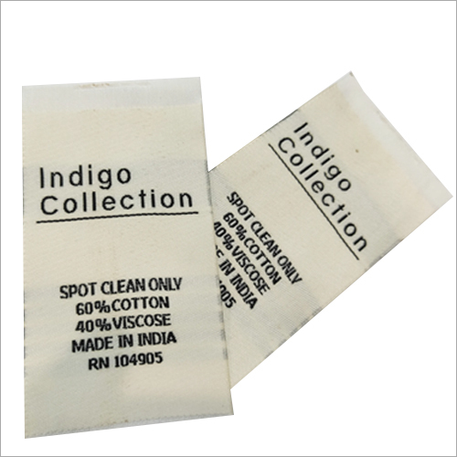 Customized Wash Care Label