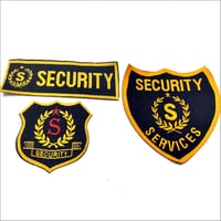 Security Embroidered Badges