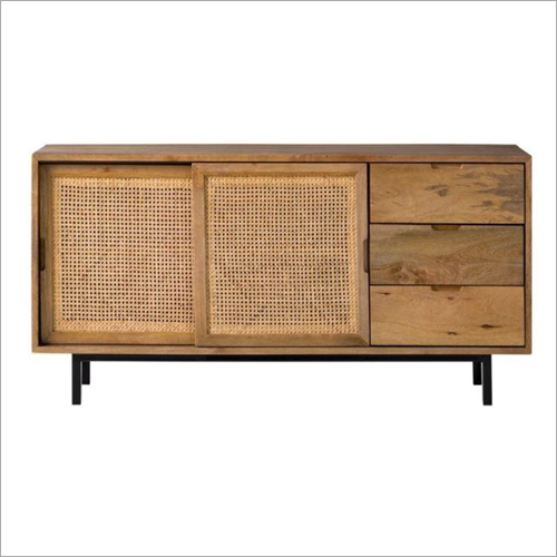 Cane 3 Drawer 2 Door Sideboard
