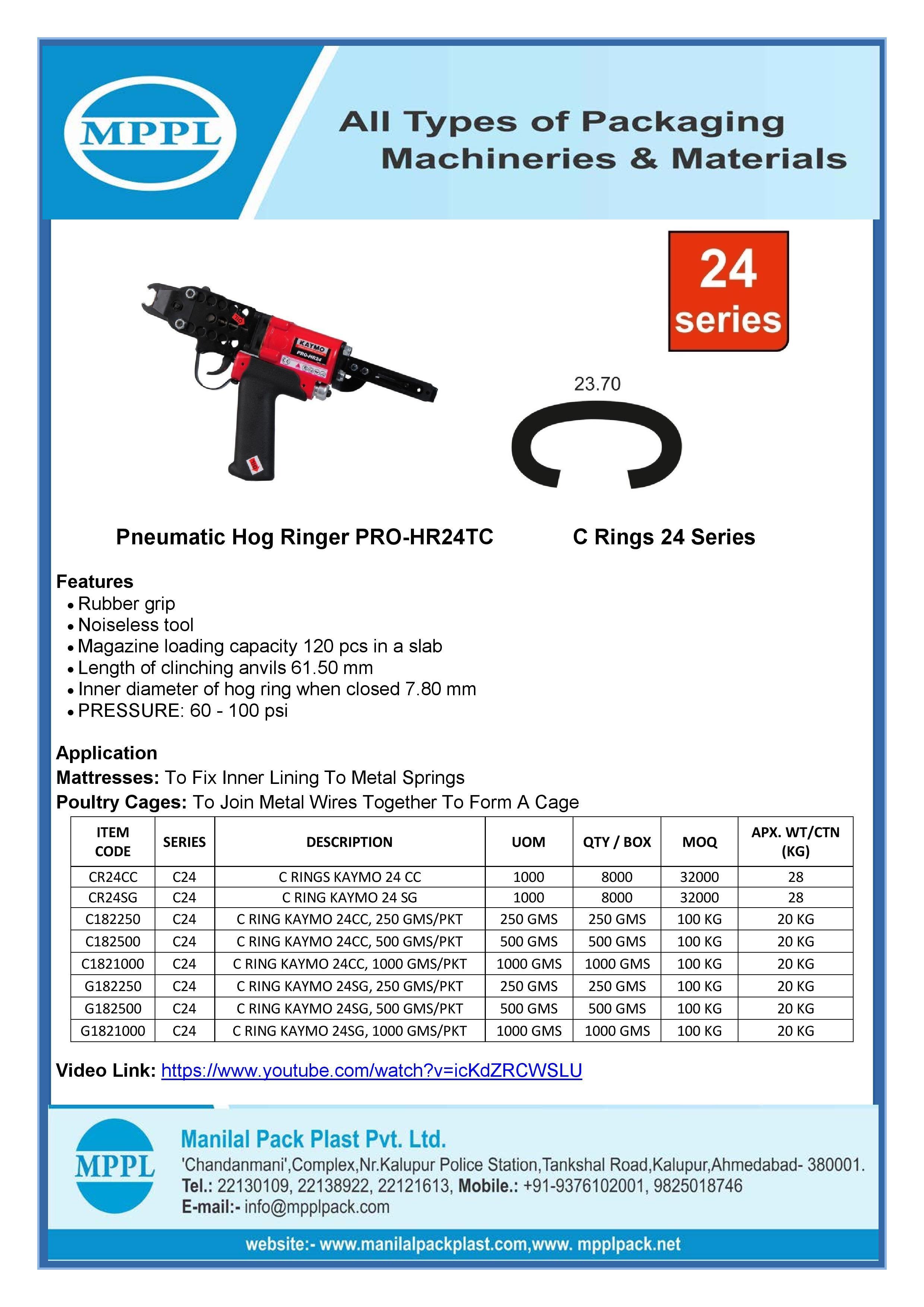 Pneumatic Hog Ringer PRO-HR24TC