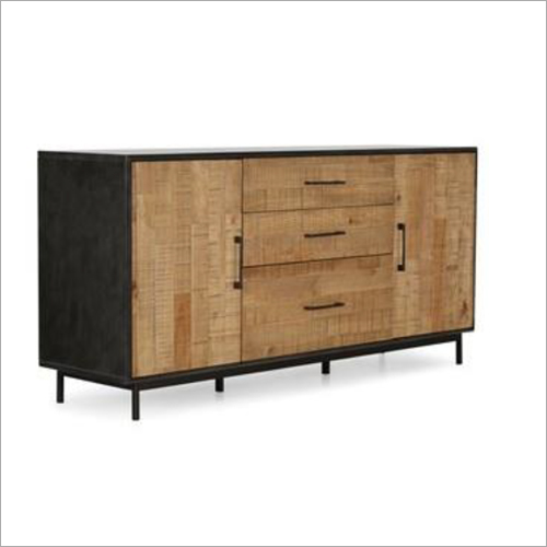 Mango Wood 3 Drawer 2 Door Sideboard