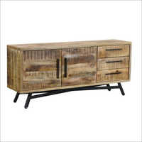 3 Drawer 2 Door Wooden Sideboard