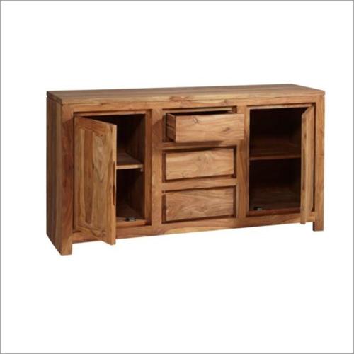 Sheesham Wood 2 Drawer 3 Drawer Sideboard