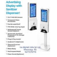 Floor Stand Electronic Hand Sanitizer Alcohol Gel Dispenser Soap Dispenser Kiosk