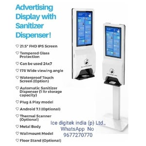 Automatic Spray Touchless Hand Sanitizer Dispenser floor stand