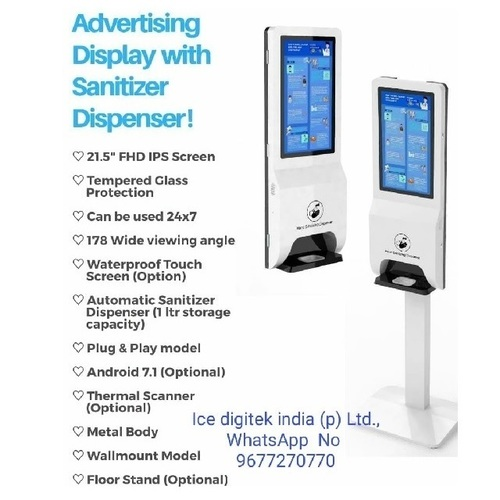 Customized wall mounted free standing hospital auto touchless hand sanitizer