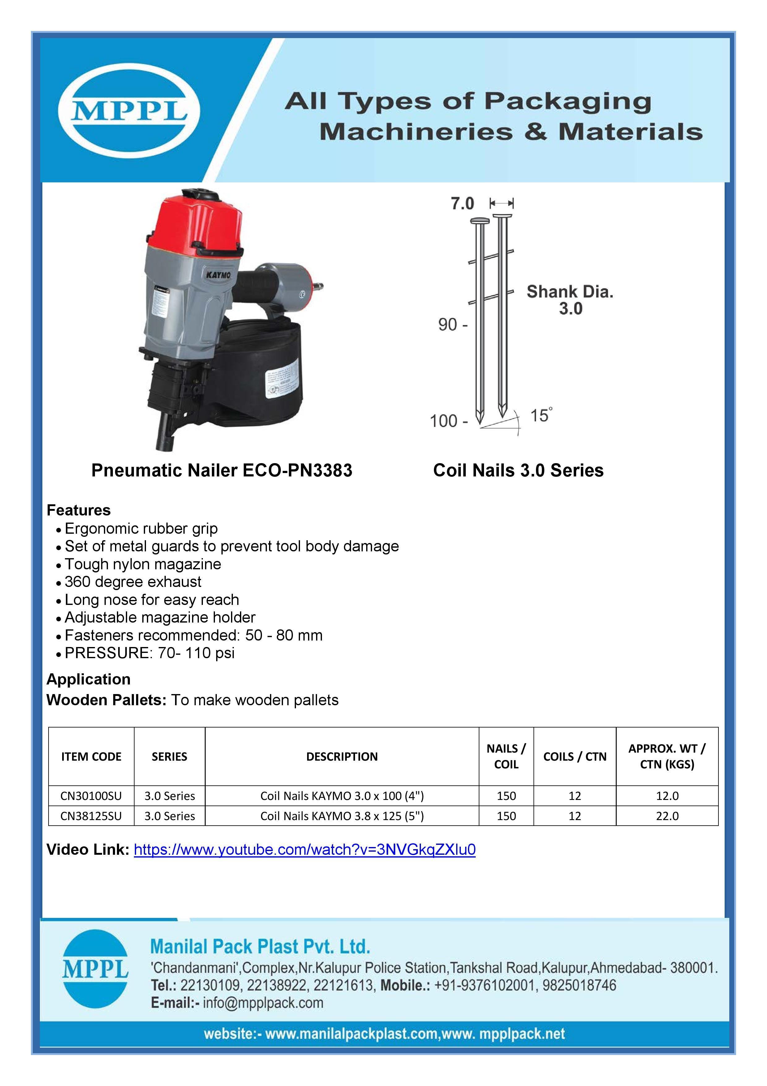 Pneumatic Nailer ECO-PN3383
