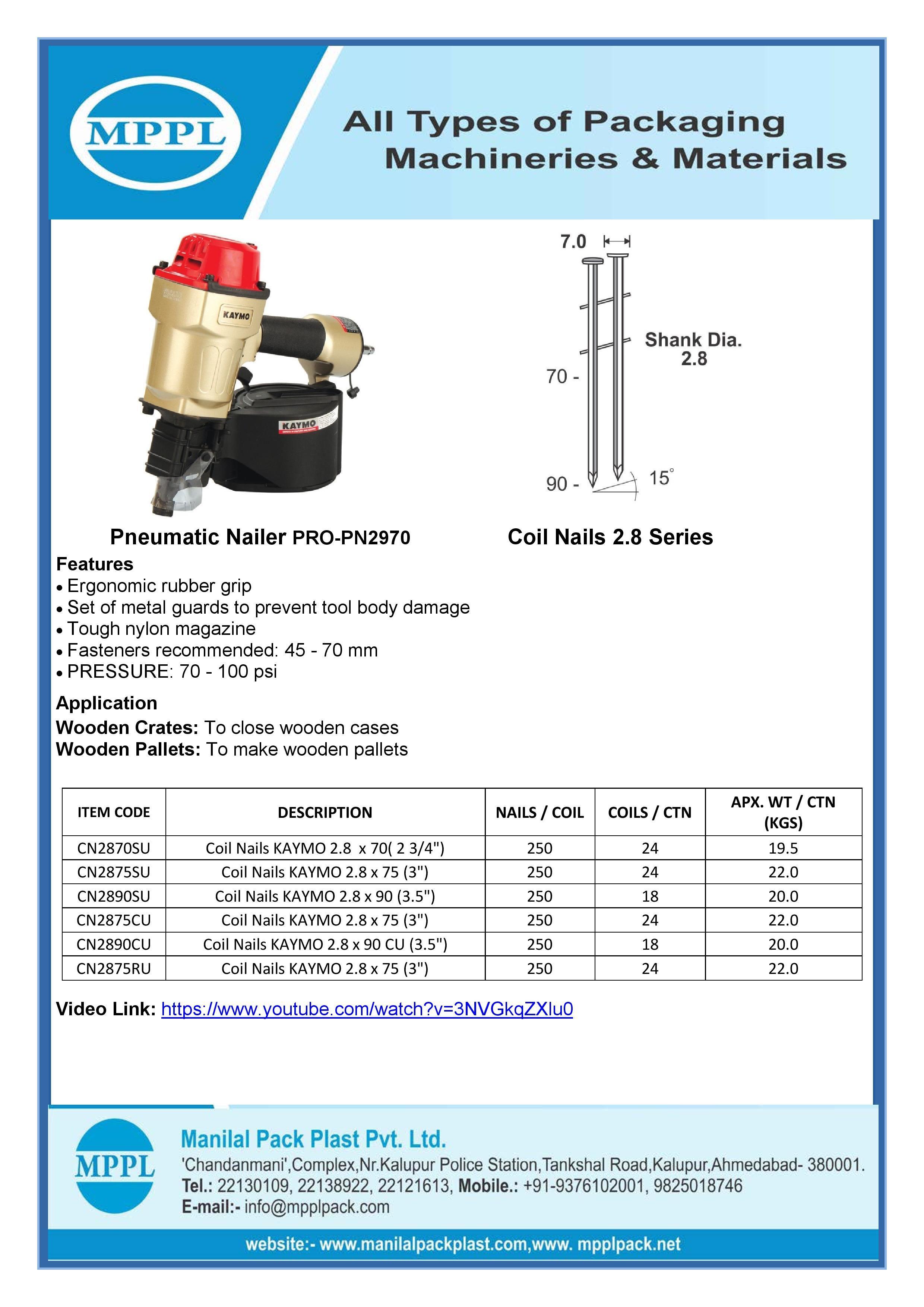 Pneumatic Nailer PRO-PN2970