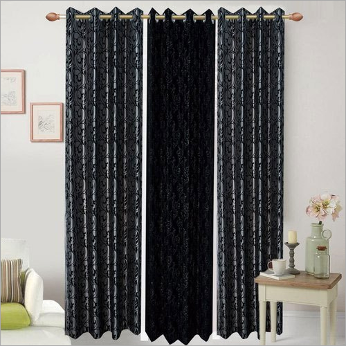Long Crush With Sparkle Flocking Window - Door Curtain