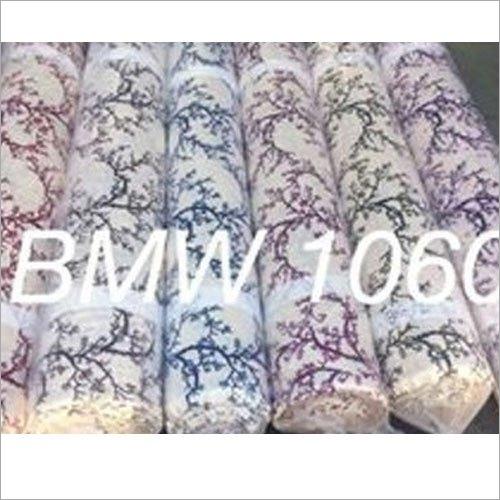 Designer Long Crush Printed Curtain Fabric