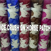 Long Crush Patch Curtain Fabric