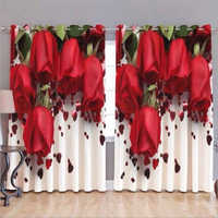 3D Digital Printed Window - Door Curtain