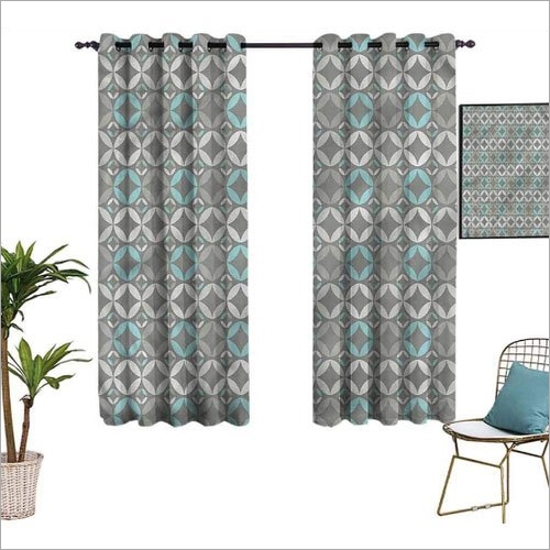 Decorative Printed Window Curtain