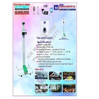 Automatic advertising touch free floor stand infrared soap liquid hand sanitizer dispenser