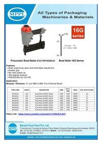 Pneumatic Brad Nailer ECO-PB16G50UD