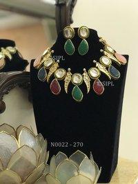 Contemporary Handmade Monalisa Necklace Set